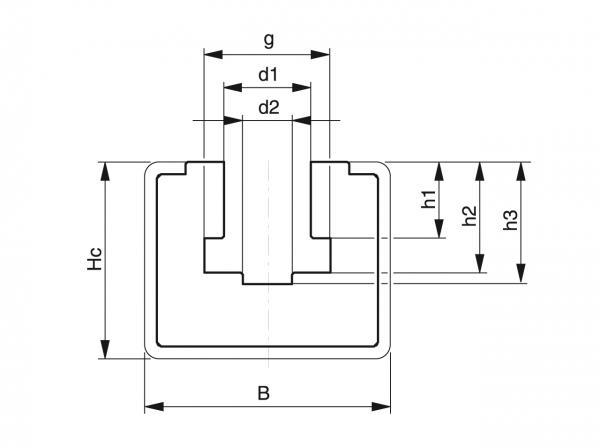 Type CKG - Chain guides for roller chains - Murtfeldt GmbH Kunststoffe - Technische Zeichnung 1