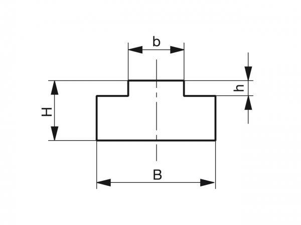 Type T - Chain guides for roller chains - Murtfeldt GmbH Kunststoffe - Technische Zeichnung 1