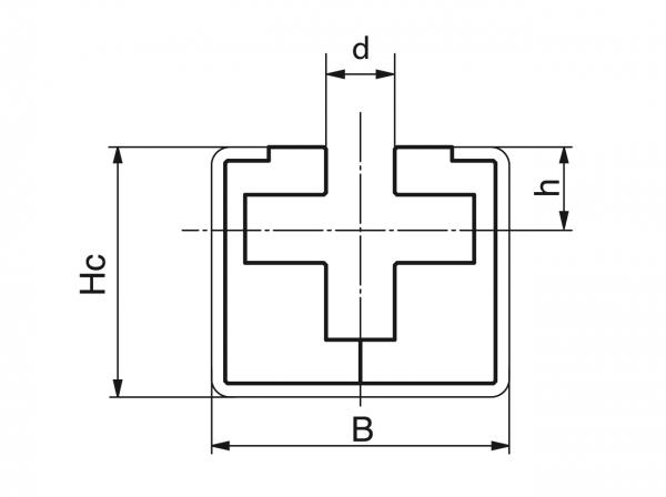 Type CRG - Chain guides for round link chains - Murtfeldt GmbH Kunststoffe - Technische Zeichnung 1