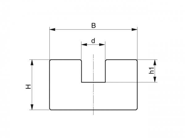 Type R - Chain guides for round link chains - Murtfeldt GmbH Kunststoffe - Technische Zeichnung 1