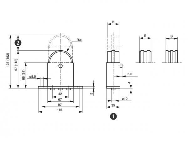 Spann-Box® size 1 with semi-circular profile / Murtfeldt